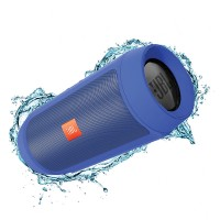 اسپیکر پرتابل بلوتوث ضد آب بی سیم وایرلس جی بی ال JBL Charge 2+ Blue