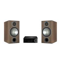قیمت خرید فروش اسپیکر پسیو خانگی رومیزی | بوکشلف  قدرتمند مانیتور آدیو Monitor Audio Bronze 2 Bundle Walnut